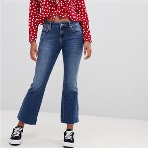NWT Free People Cropped Flare Jeans